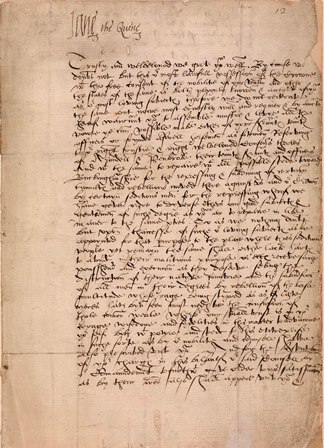 Original letter of Lady Jane Grey, signed by her as `Quene'. July 1553 Image copyright © The Inner Temple Library