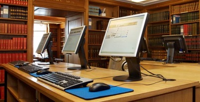 Internet access in the Library. Image copyright © Yael Schmidt