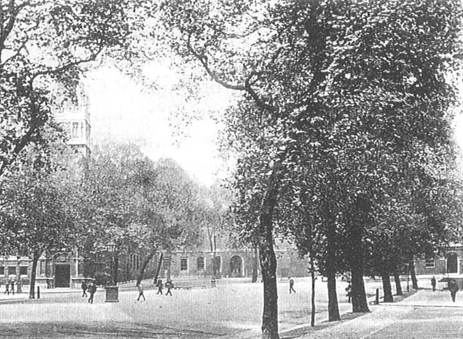 King's Bench walk looking north-west, c.1900. Image copyright © Professor Sir John Baker