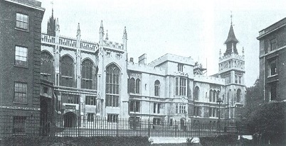 Smirke's Hall and Library, from the Gardens, c.1900. Image copyright © The Inner Temple