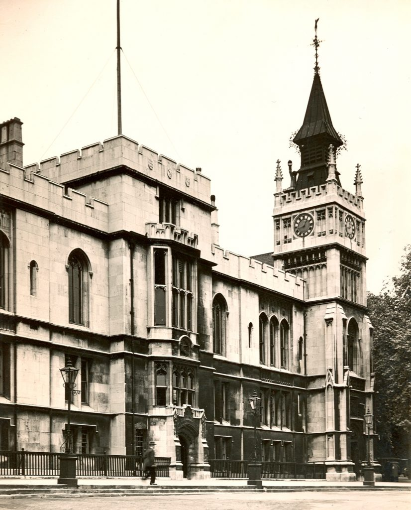 The Library tower before the air raid, 1940. Image copyright © The Inner Temple