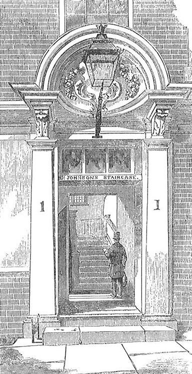 No. 1, Inner Temple Lane (demolished 1857). Image copyright © Professor Sir John Baker