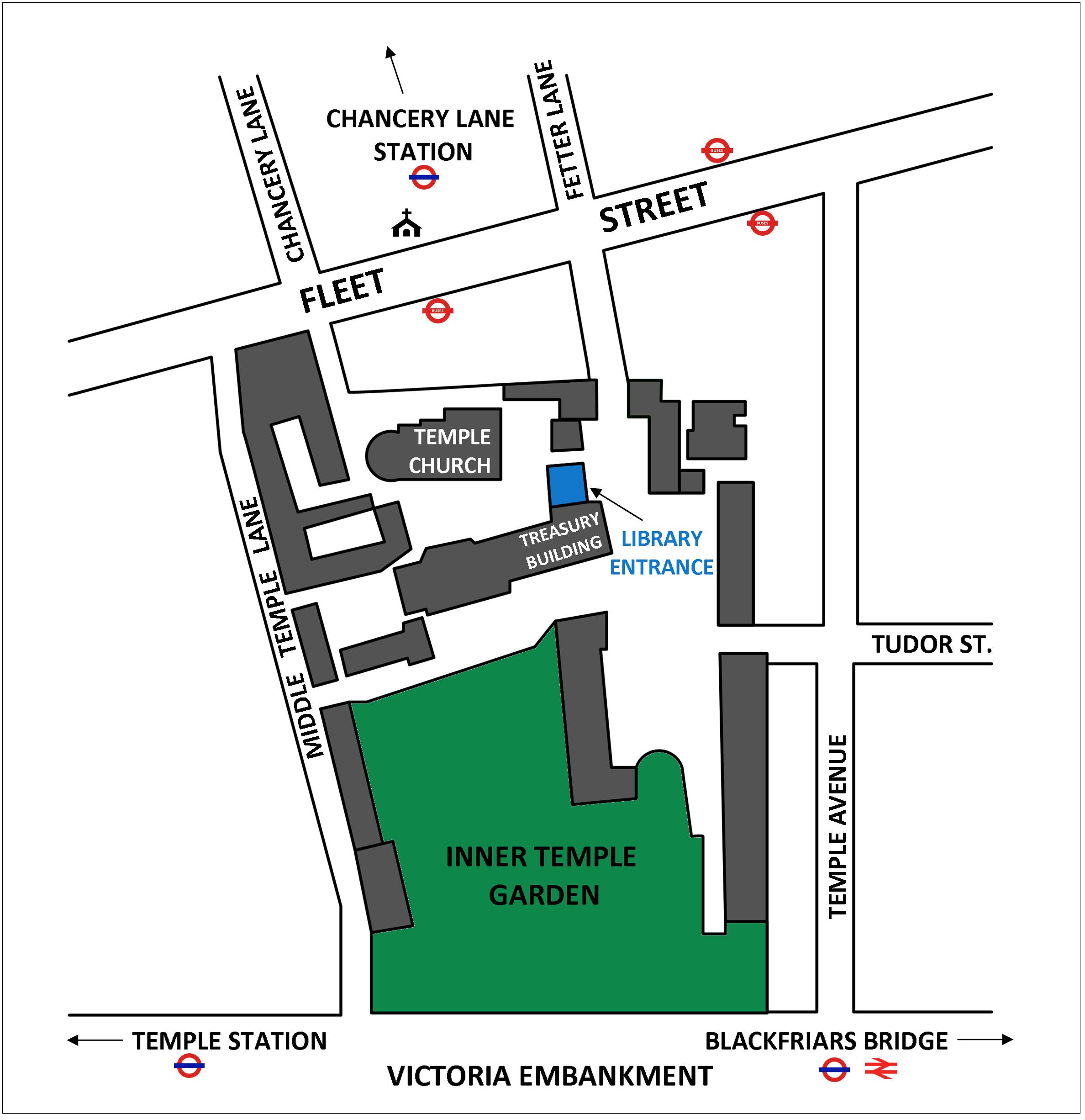 Map Of Inn The Inner Temple Library
