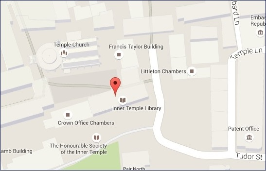 Visit the Inner Temple Library using Google Maps